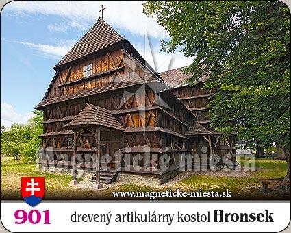 Magnetka - Drevený artikulárny kostol Hronsek