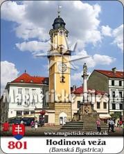Magnetky: Hodinová veža Banská Bystrica